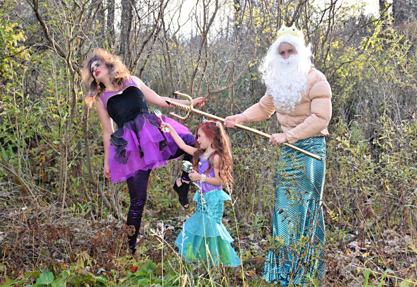 Family Halloween Costume Ideas Cute Unique Ideas The Little Mermaid King Triton Ursula Makeup Ariel